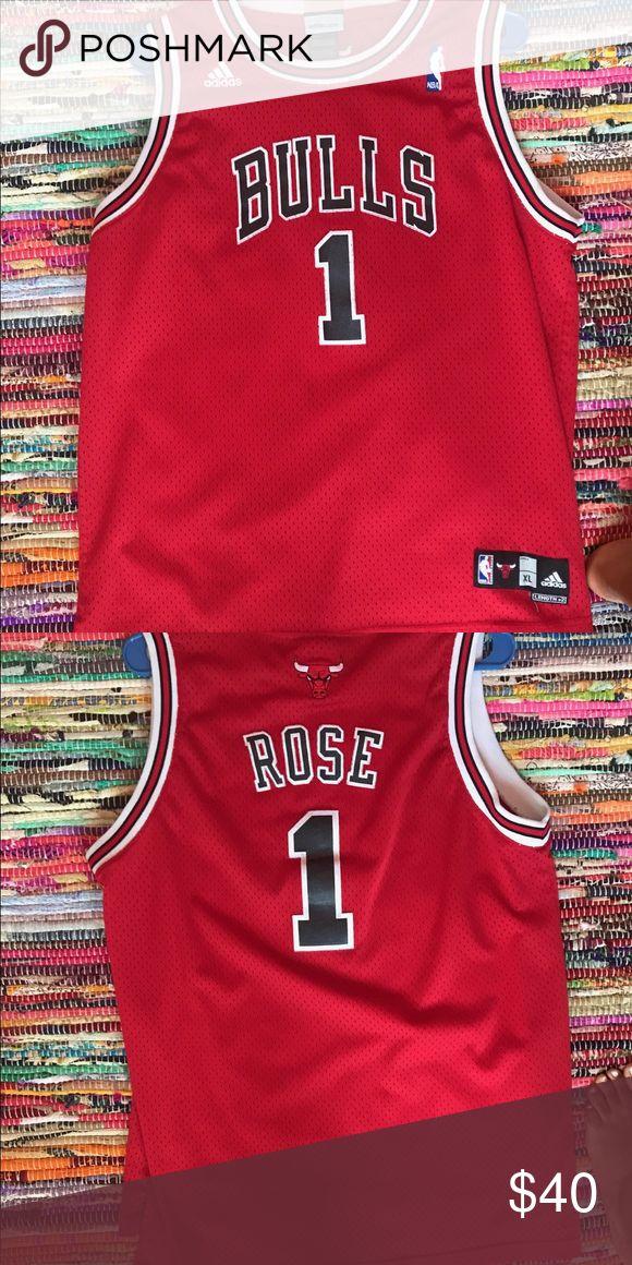 NBA Adidas basketball jersey Derek rose bulls jersey adidas Shirts