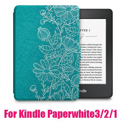 Print Case for Amazon Kindle Paperwhite 1/2/3 Capa Para PU Leather Ultra Slim Anti-Dust Case for Kindle Paperwhite 123 + HD Film