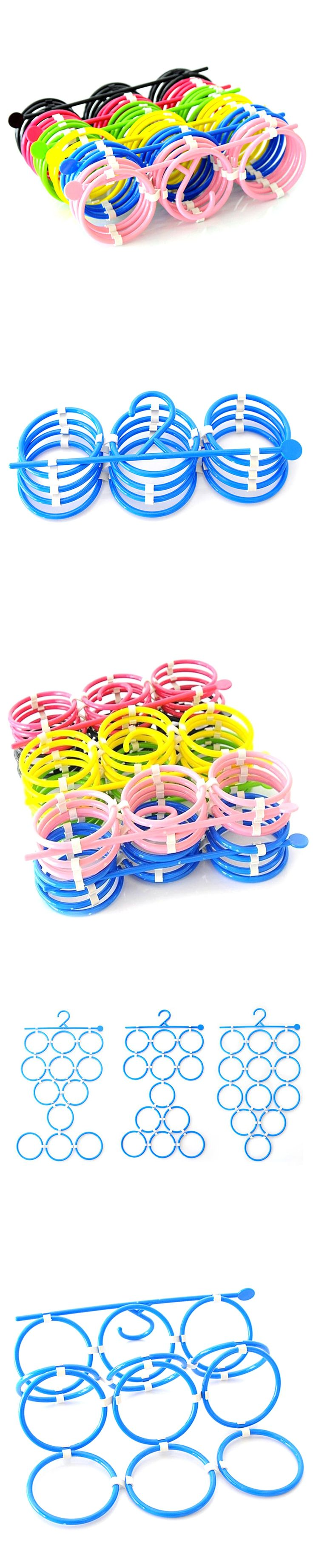 12 Rings Shawl Scarf Tie Hanger Belt Clothes Holders Hook Multi-Ring Hanger Storage Can Be Freely Combined With A Coat Hanger