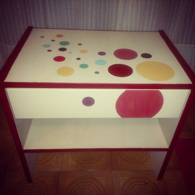 A bedside table coloured with Solas products! #Solas #naturalpaints #colours #bedsidetable #life #petrolfree #natural