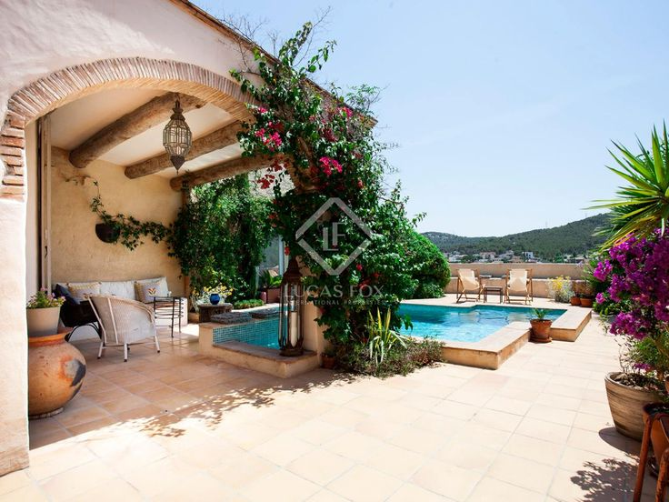 Beautifully renovated 16th Century stone house for sale in Sitges, near Barcelona, Spain (SIT6909).