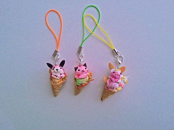 Cute animal ice cream charms