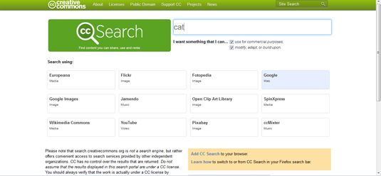 Copyright free photo search engine or website.