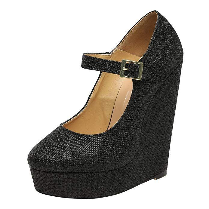 7befa050aaa9f Amazon.com | MAIERNISI JESSI Men's Women's Flatform Wedge High Heel ...