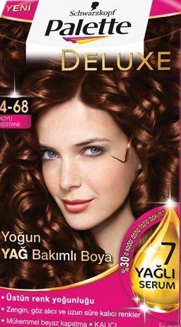 Palette 2017 Saç Renk Kartelası - Palette Koyu Kestane Saç Boyası rengi