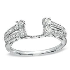 1/2 CT. T.W. Diamond Solitaire Enhancer in 14K White Gold - Zales