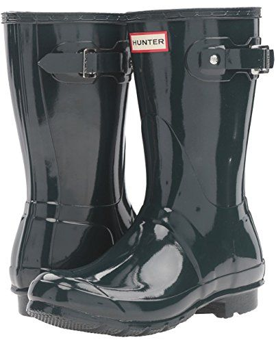 Hunter Womens Original Short Gloss boot in Ocean Blue Size 7 >>> This is an Amazon Affiliate link. You can get more details by clicking on the image.