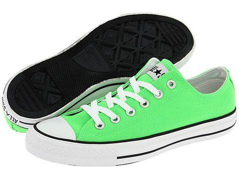 Neon green converse