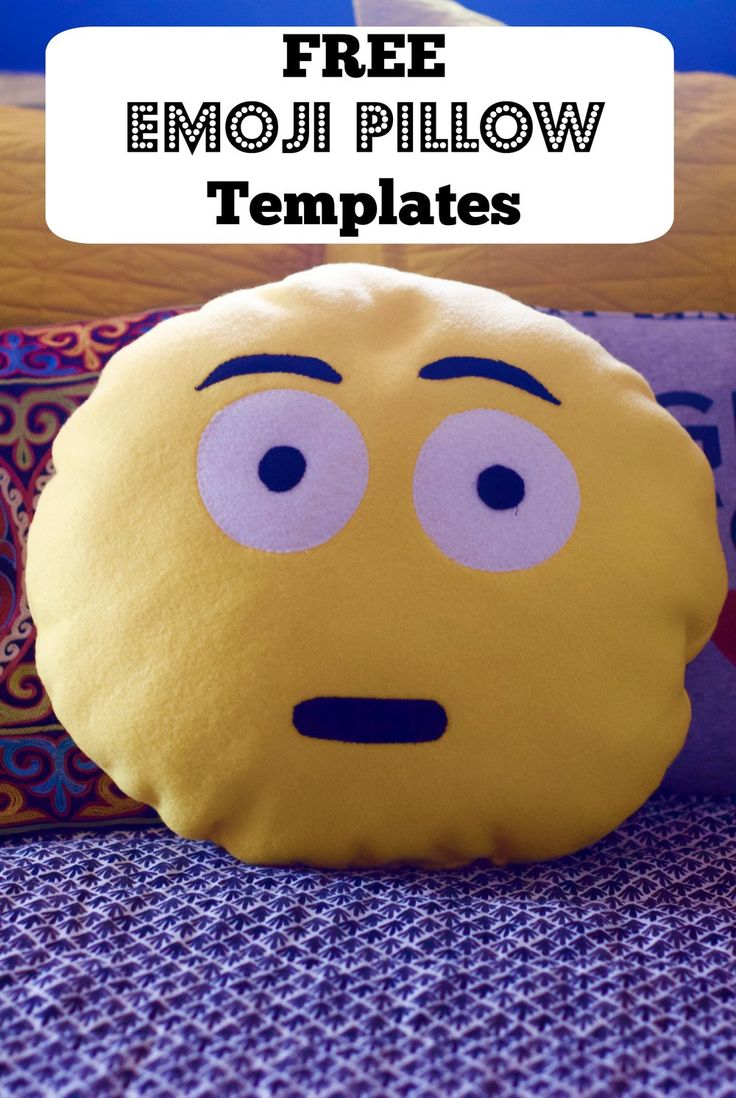 "It's been about a month since I had an emoji pillow sewing class for kids  and my own emoji pillow is sitting on my bed, making me laugh on a daily  basis, so I thought it would be a shame not to share the templates I made  for the class so you can make your own!   I'm pretty sure this is what expression is in my mind, if not on my face,  most of the time these days.   This is not an official tutorial, but I'll give you the basics. I made a  circular pattern that was 15"" in diameter, using…"