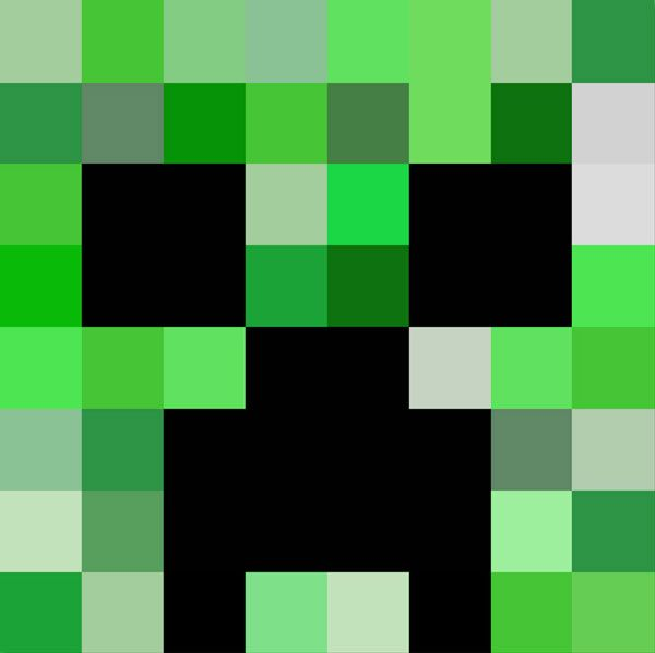 Declarative image intended for minecraft creeper face printable