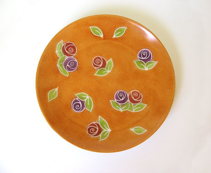 Tableware ceramic plate , Serving Orange plate, Serving dish - pinned by pin4etsy.com