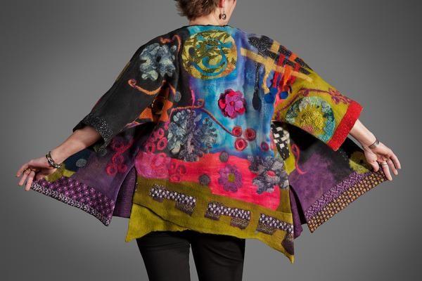 Sharon Janda felted fiber art
