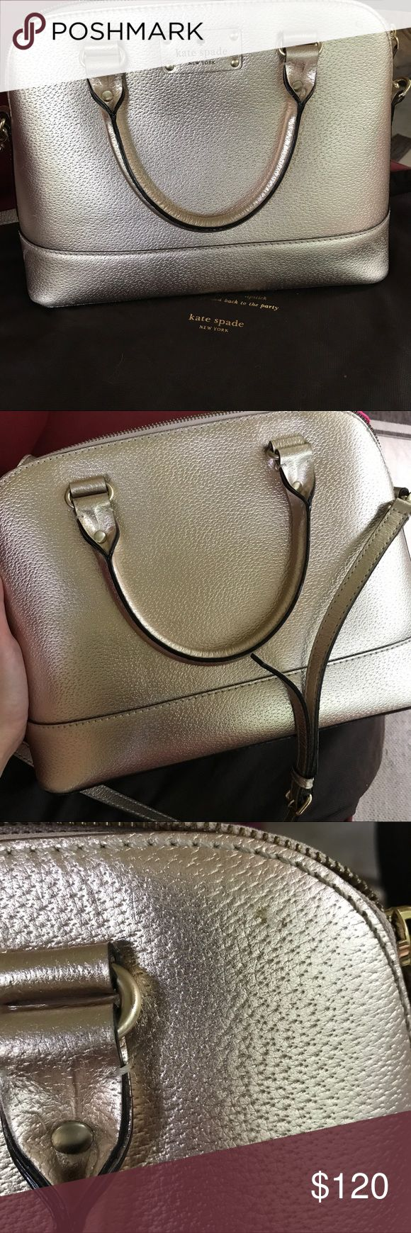 Kate Spade Wellesley Small Rachelle in Rose Gold Has a minor scratch/flaw (as pictured), otherwise in great condition kate spade Bags Satchels