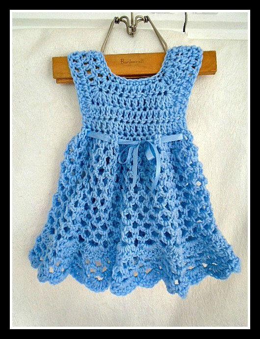 CROCHET Baby Dress PATTERN  ELLYN  Girl's Dress