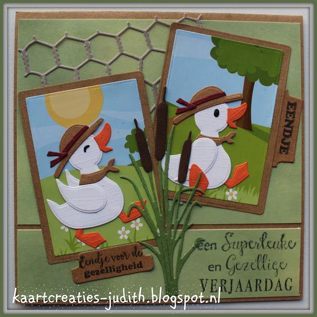 Kaarten en Creaties van Judith: Er is er EENDJE jarig...