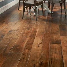 Hudson Bay Random Width Engineered Walnut Hardwood Flooring in Alberta