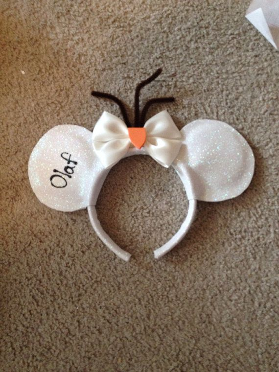 Olaf from Disneys frozen inspired Mickey ears  on Etsy, $20.00