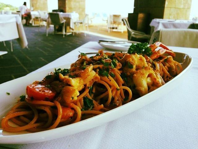 "Soon time for Lunch ? Try out our delicious plate, Lobster with Pasta, at ""Impressions"" Restaurant"