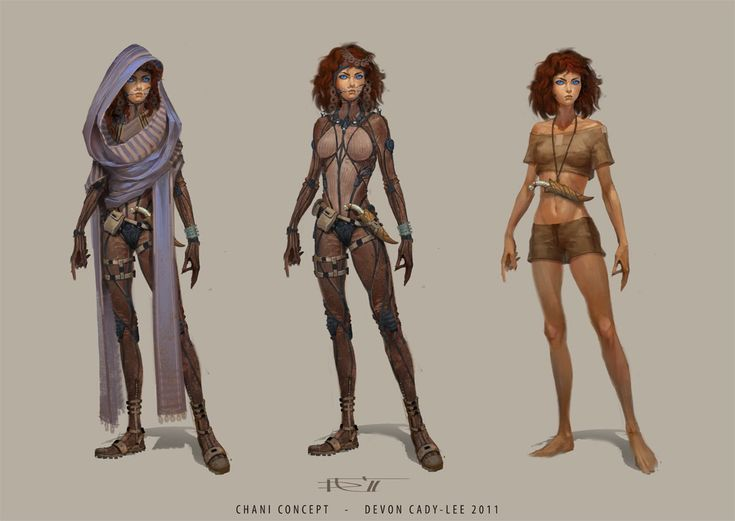 Concept artwork for Chani for the new /Dune/ film. This is much better than either version yet filmed...hope they can remember that the Fremen are supposed to be Bedouins!...
