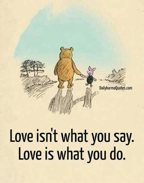 Actions always speak louder than words.