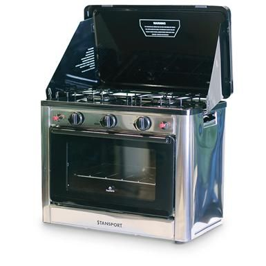Stansport Outdoor Propane Gas Stove and Camp Oven, Stainless Steel