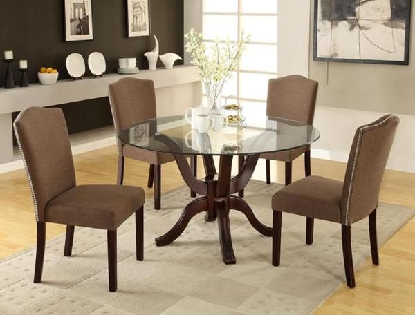 Medford Round Glass Dining Set