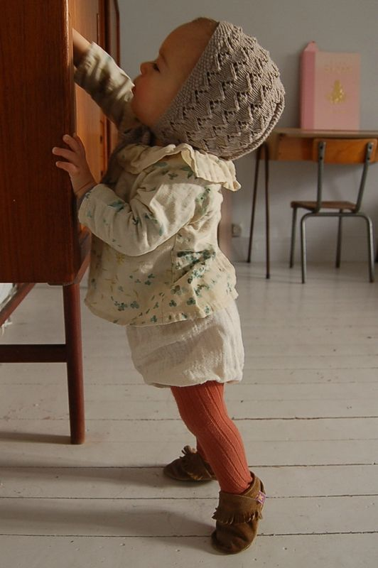 madame chacha, so adorable. love the colours and textures and the nani iro fabric