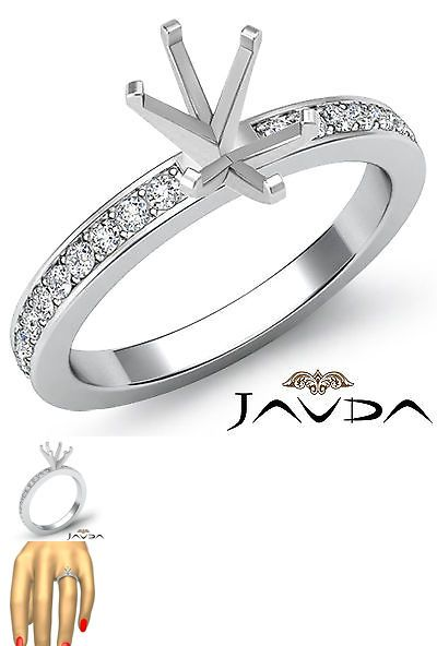 Settings Only 164309 Oval Semi Mount Pave Setting Diamond Women S Wedding Ring Platinum 950 0 50ct It Now 2164 On Ebay