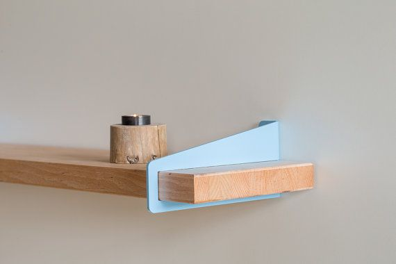 Wall Stirrup Shelf Brackets - Powder Coated (brackets only, shelf not included) via Etsy
