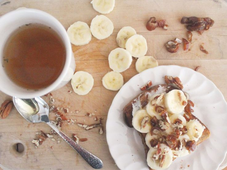 recipe : banana - ricotta toasts w/ pecans, dates, and honey ...