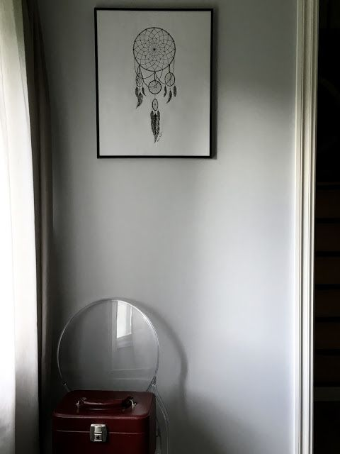 The dreamcatcher on my bedroom wall