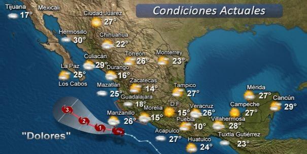 Dolores en el pacifico, se registrarán fuertes tormentas