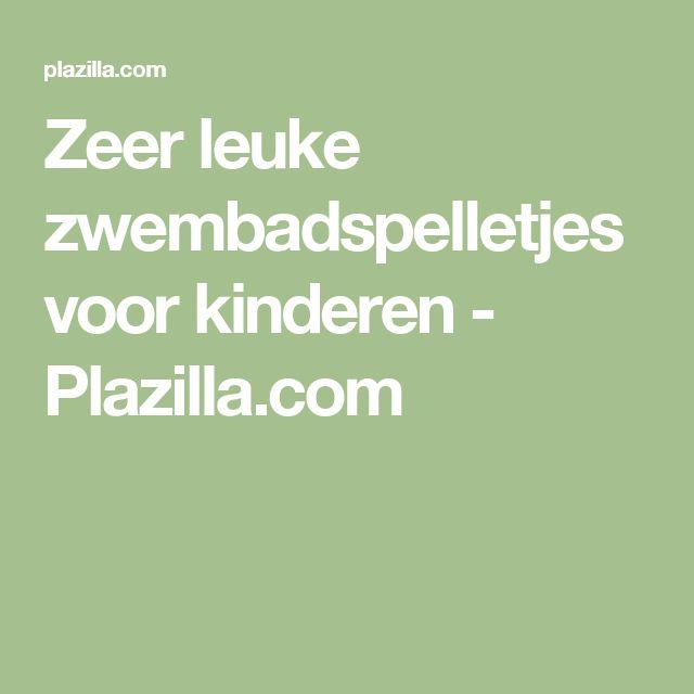 Zeer leuke zwembadspelletjes voor kinderen - Plazilla.com