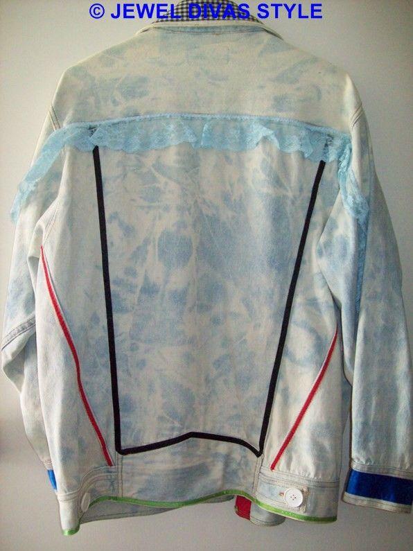 JDS - CREATED: floral denim jacket that i decorated - http://jeweldivasstyle.com/in-my-life-i-am-a-designer/