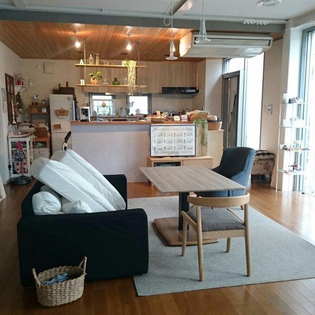 asmaさんの、リビング,ラグ,ソファーカバー,昇降式テーブル,unico ソファ,のお部屋写真