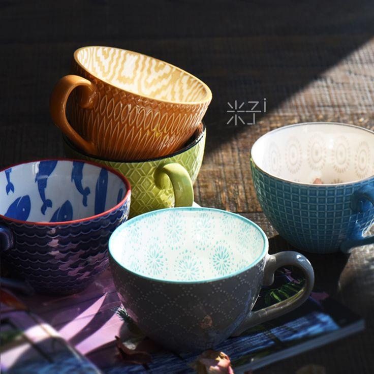 Eclectic coffee mugs