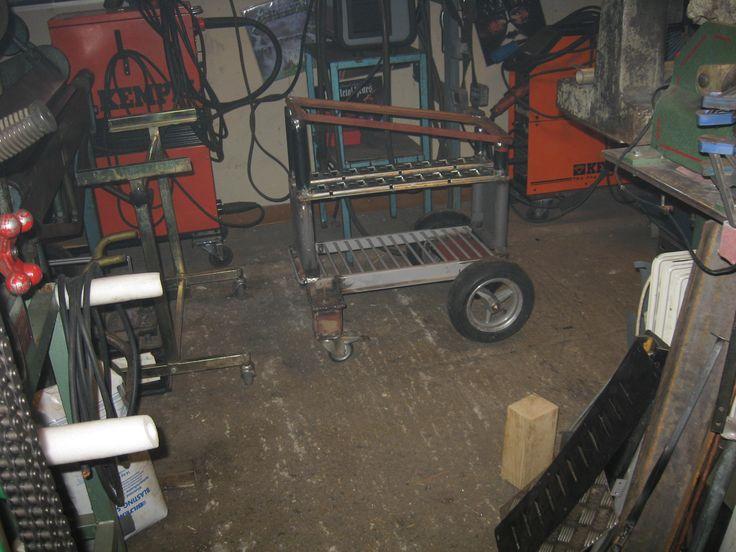 Welding cart from hell in progress