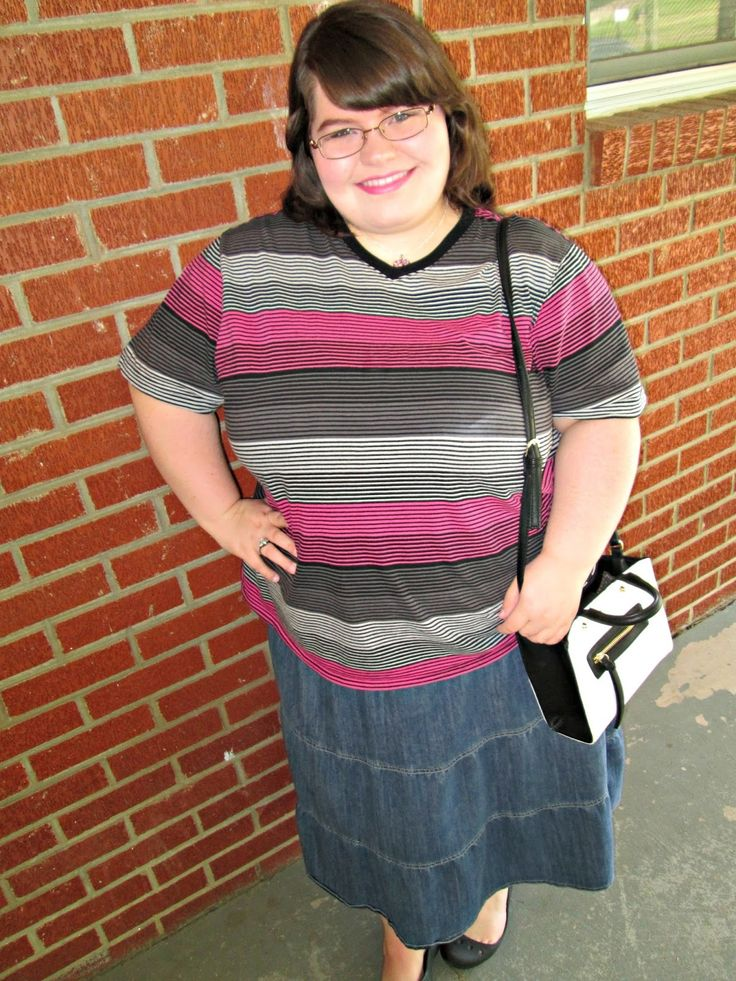 Unique Geek: Plus Size OOTD: Casual Stripes #plussizeoutfit #plussizefashionblogger
