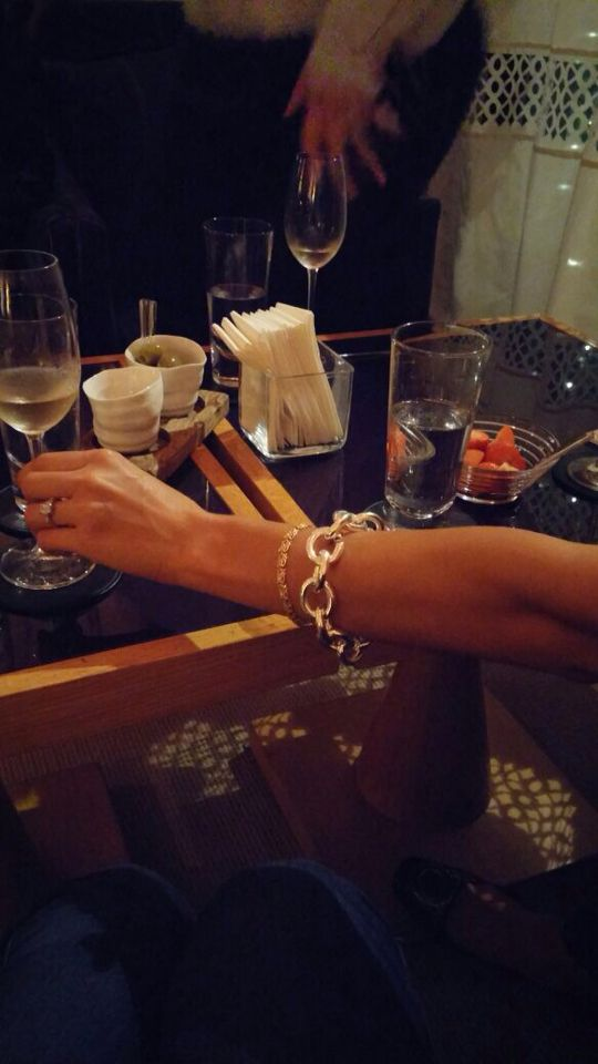 Friday evening...Very Large Silver Link Bracelet, champagne and a great time! www.mmzs.co.uk MMzS Jewellery Design