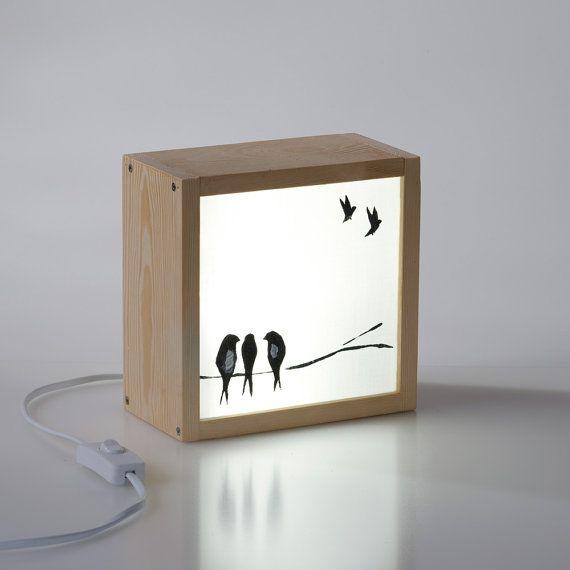 Caja de Luz Golondrinas por kitkasa en Etsy