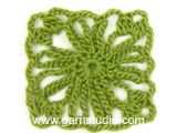 """Lily of the Valley - Crochet DROPS poncho with squares in """"Safran"""". Size: S - XXXL. - Free pattern by DROPS Design"""