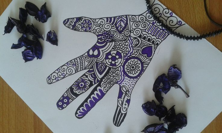 Zentangle art - El çizimi ~mandalas, doodles