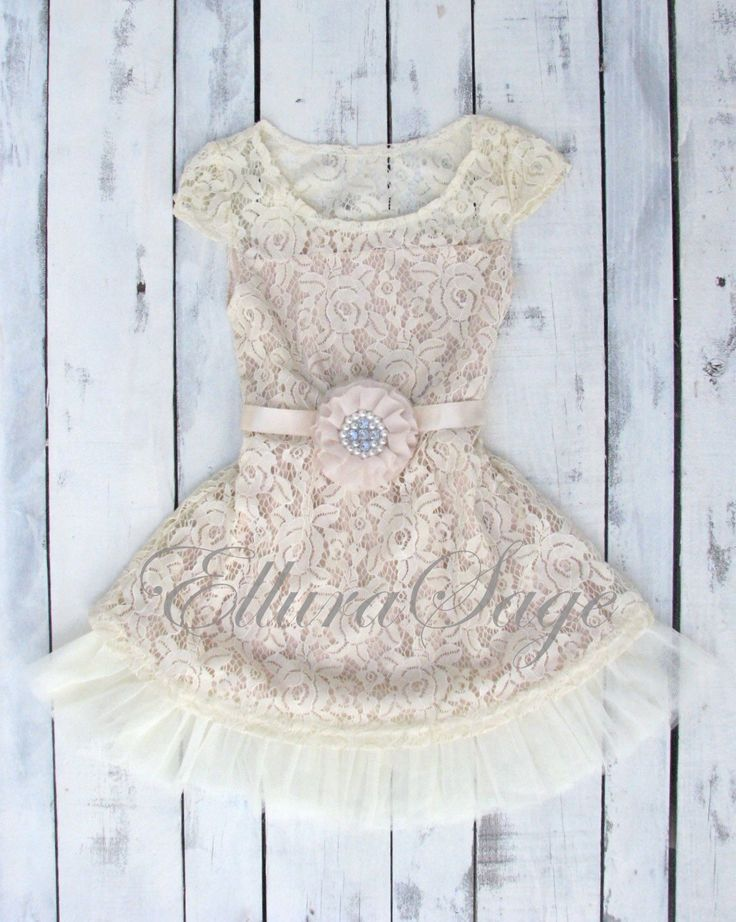 Lace Rustic flower Girl dress by ElluraSage on Etsy https://www.etsy.com/listing/232644060/flower-girl-dress-lace-flower-girl-dress