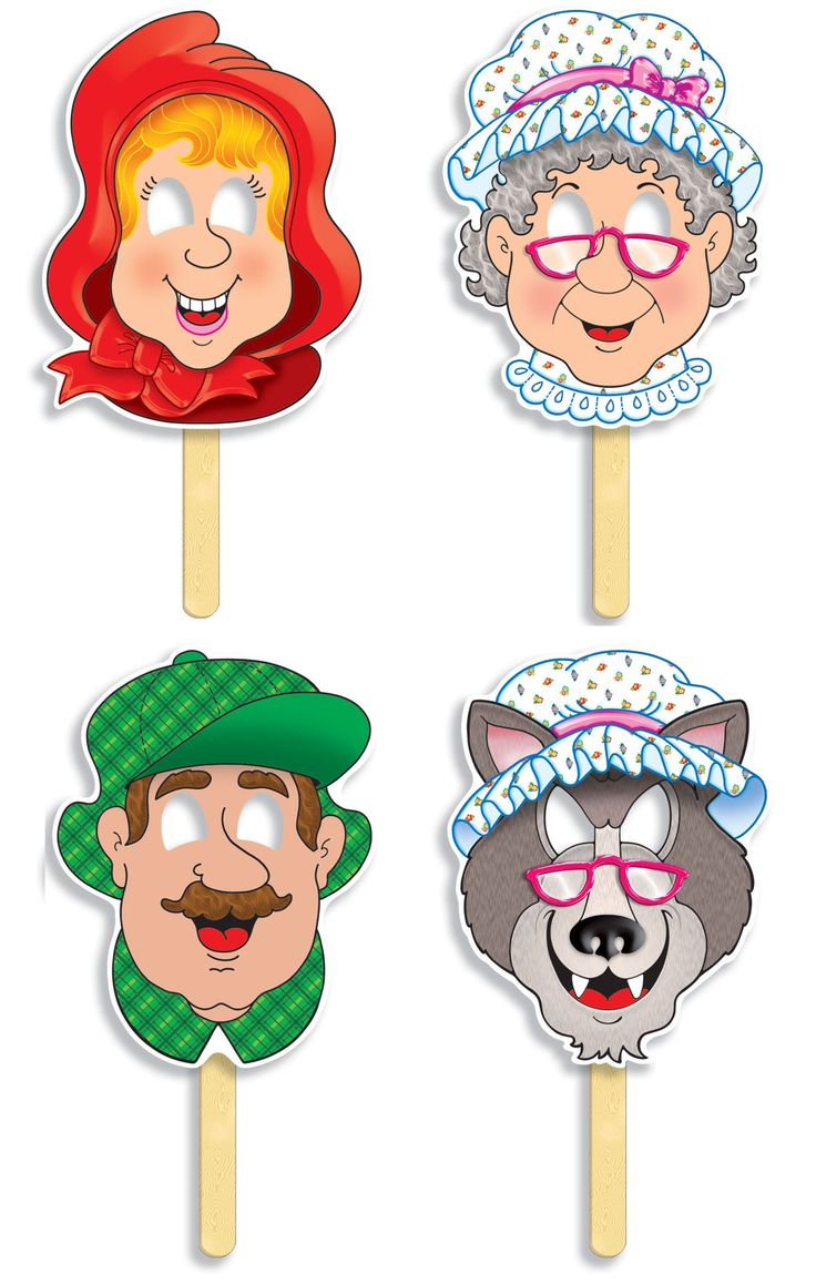Red Riding Hood fairy tale masks