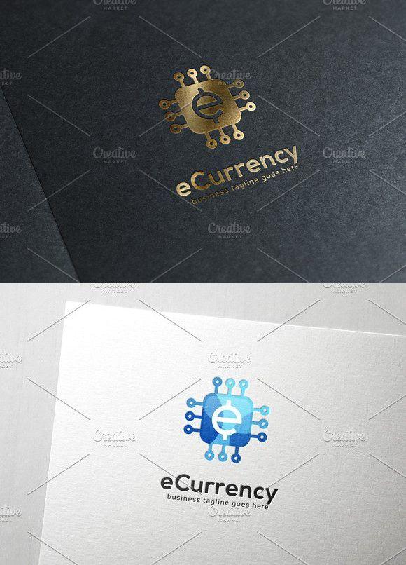 E Currency Logo Symbol Edit Text Fonts Templates