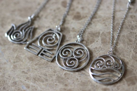 4 Nations antique silver Avatar the Last by BrandonJewelryStudio