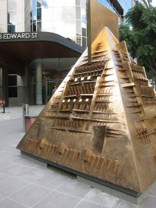 Bronze Geometric Sculpture. Brisbane