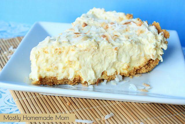 Mostly Homemade Mom - Toasted Coconut Pudding Pie www.mostlyhomemademom.com