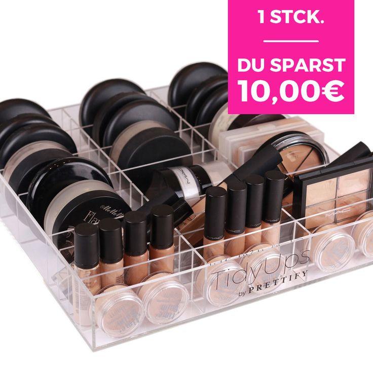 """1 x Acrylbox """"OneForAll"""" - 39 Fächer, Make-up Organizer mit individualisierbarem Stecksystem, für IKEA ALEX und MALM"""