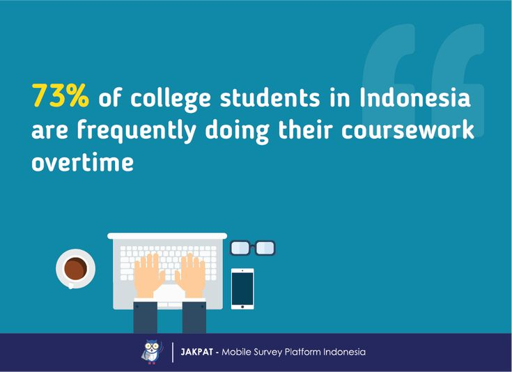 Light Up the Night: When College Student Do the Coursework Overtime - JAKPAT #Indonesia #mobilesurvey #marketresearch #College #student #overtime #latenight
